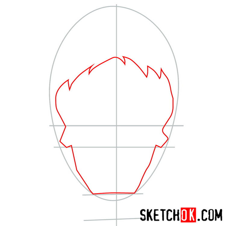 How to draw the logo of Joker - step 02