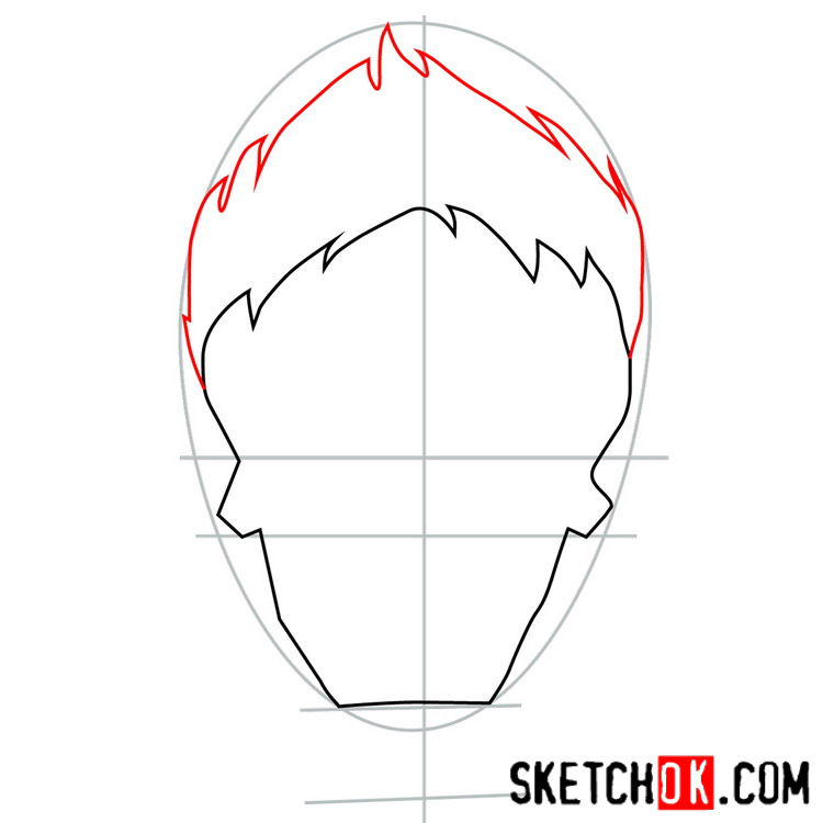 How to draw the logo of Joker - step 03
