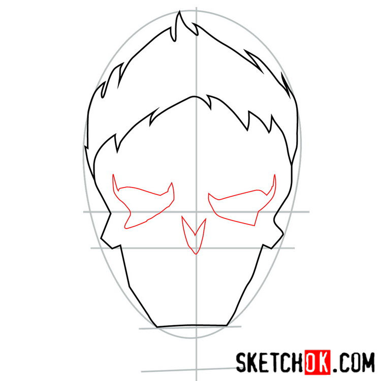 How to draw the logo of Joker - step 04