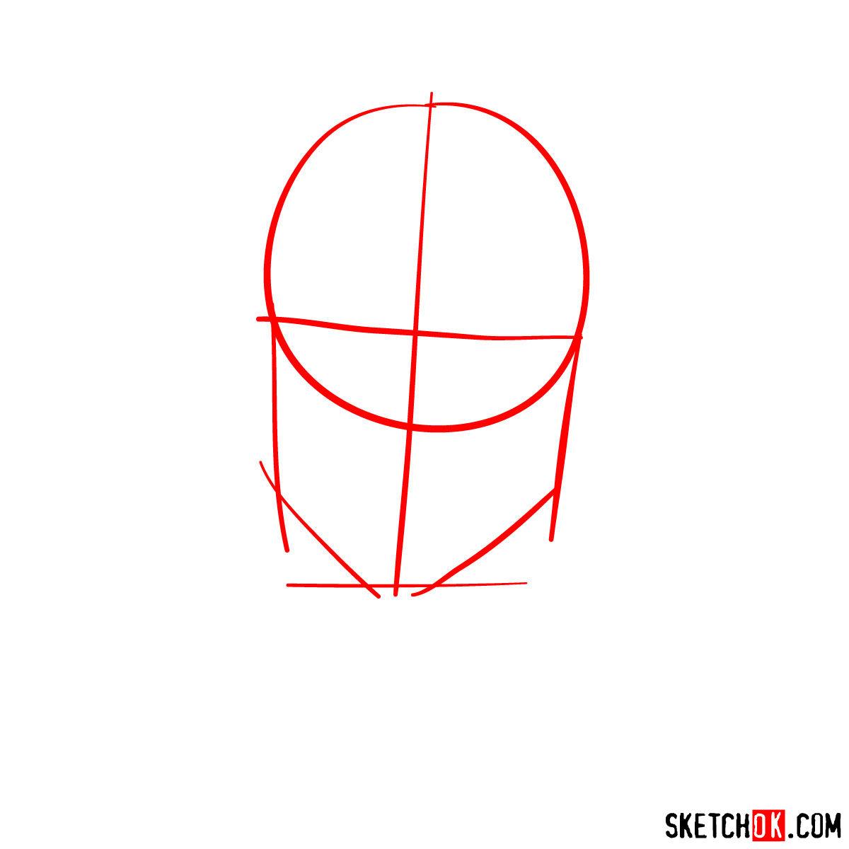 How to  Heath Ledger's Joker - step 01