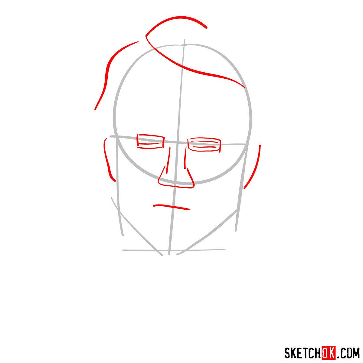 How to  Heath Ledger's Joker - step 02