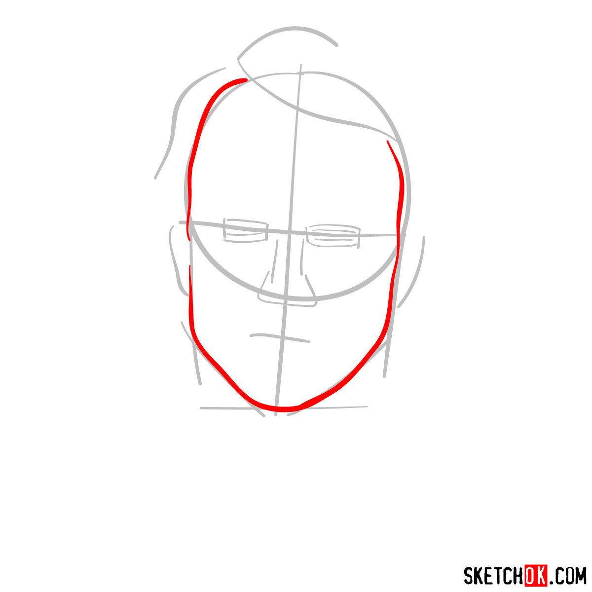 How to  Heath Ledger's Joker - step 03