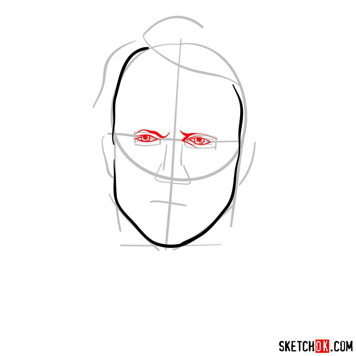 How to  Heath Ledger's Joker - step 04