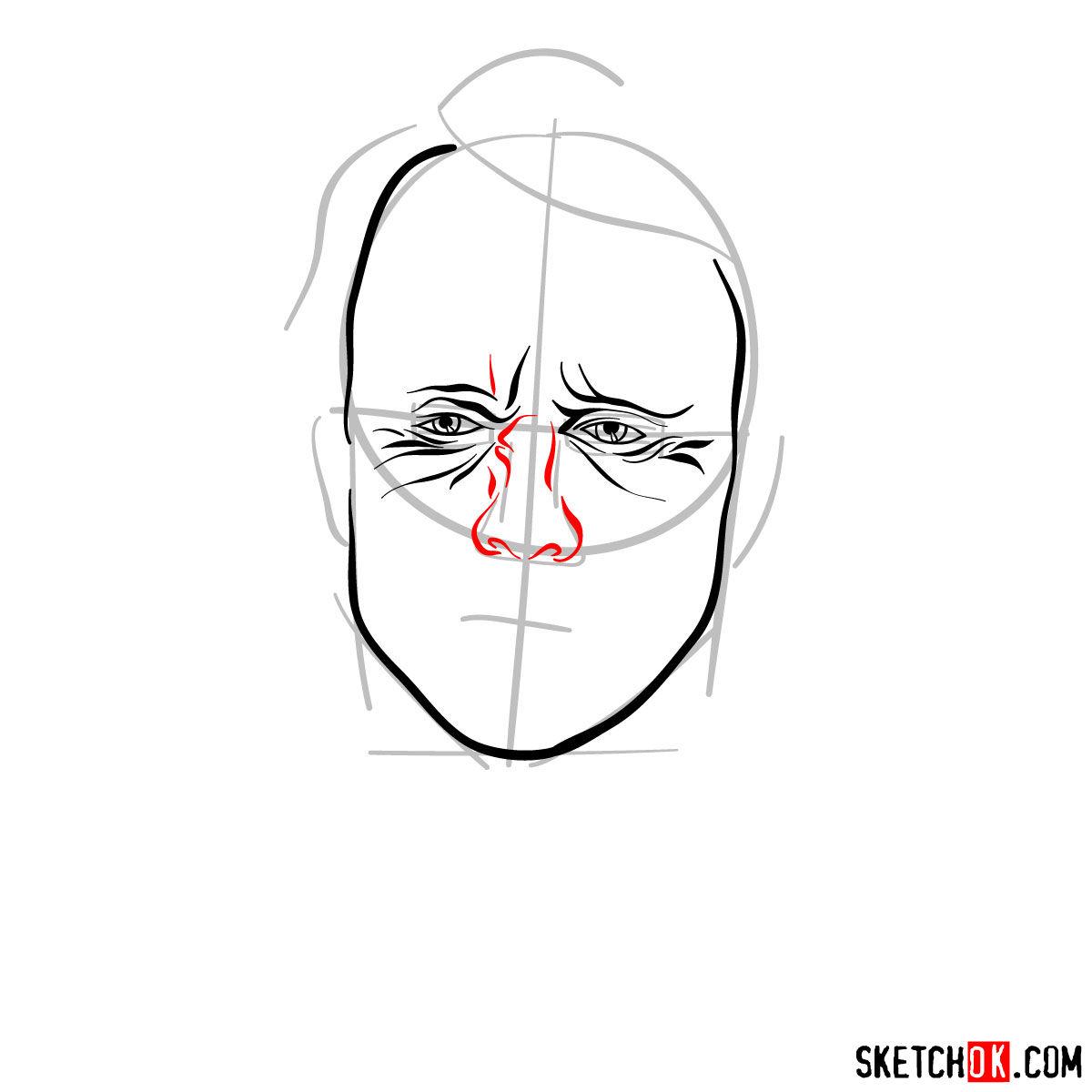 How to  Heath Ledger's Joker - step 06