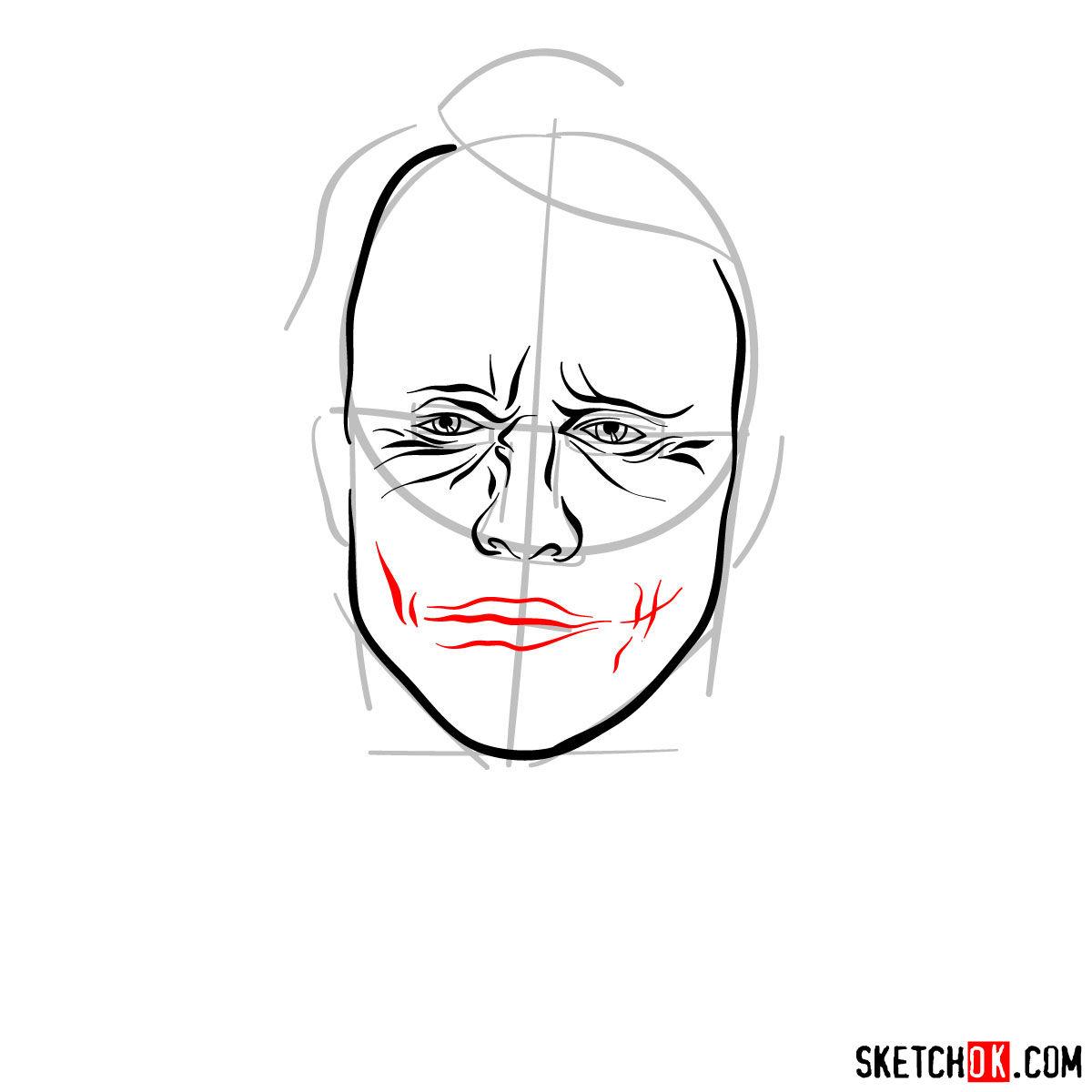 How to  Heath Ledger's Joker - step 07