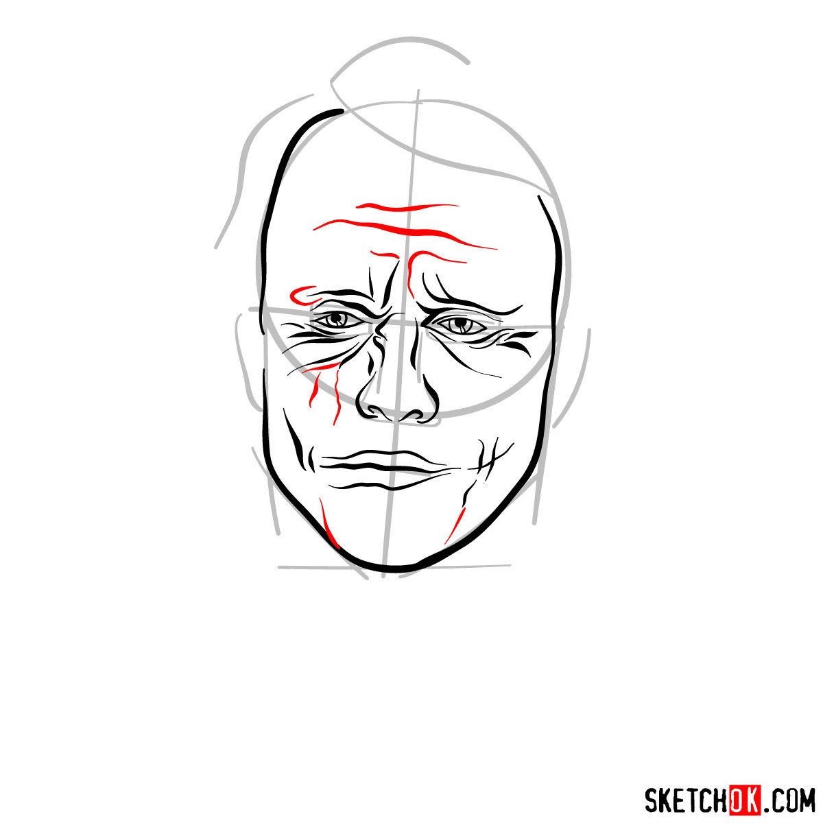How to  Heath Ledger's Joker - step 08