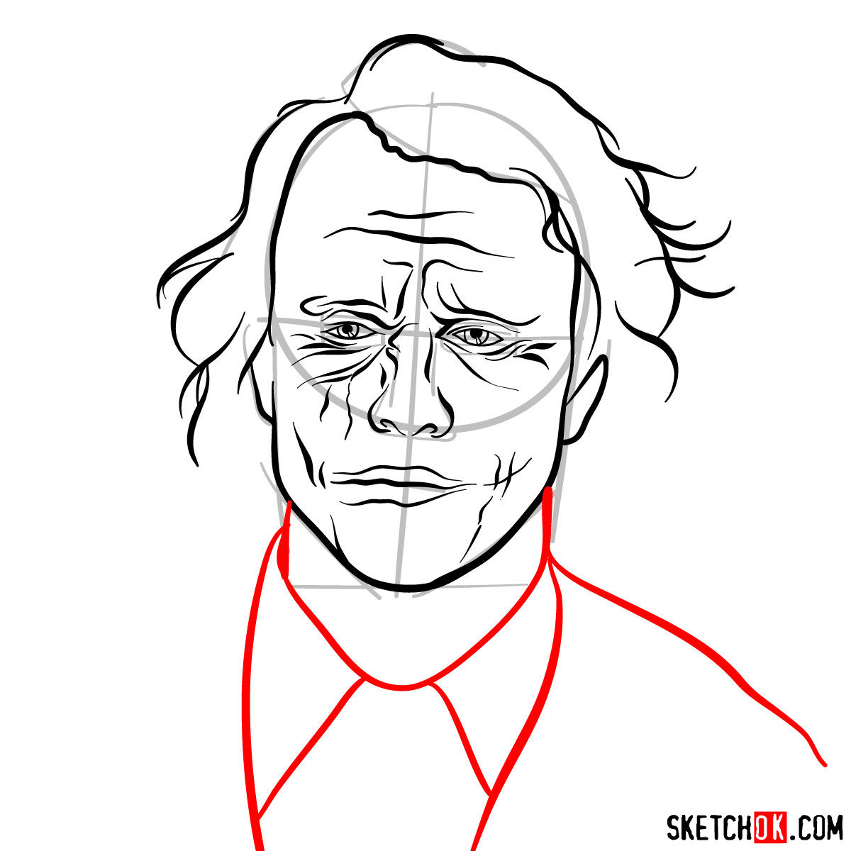 How to  Heath Ledger's Joker - step 11