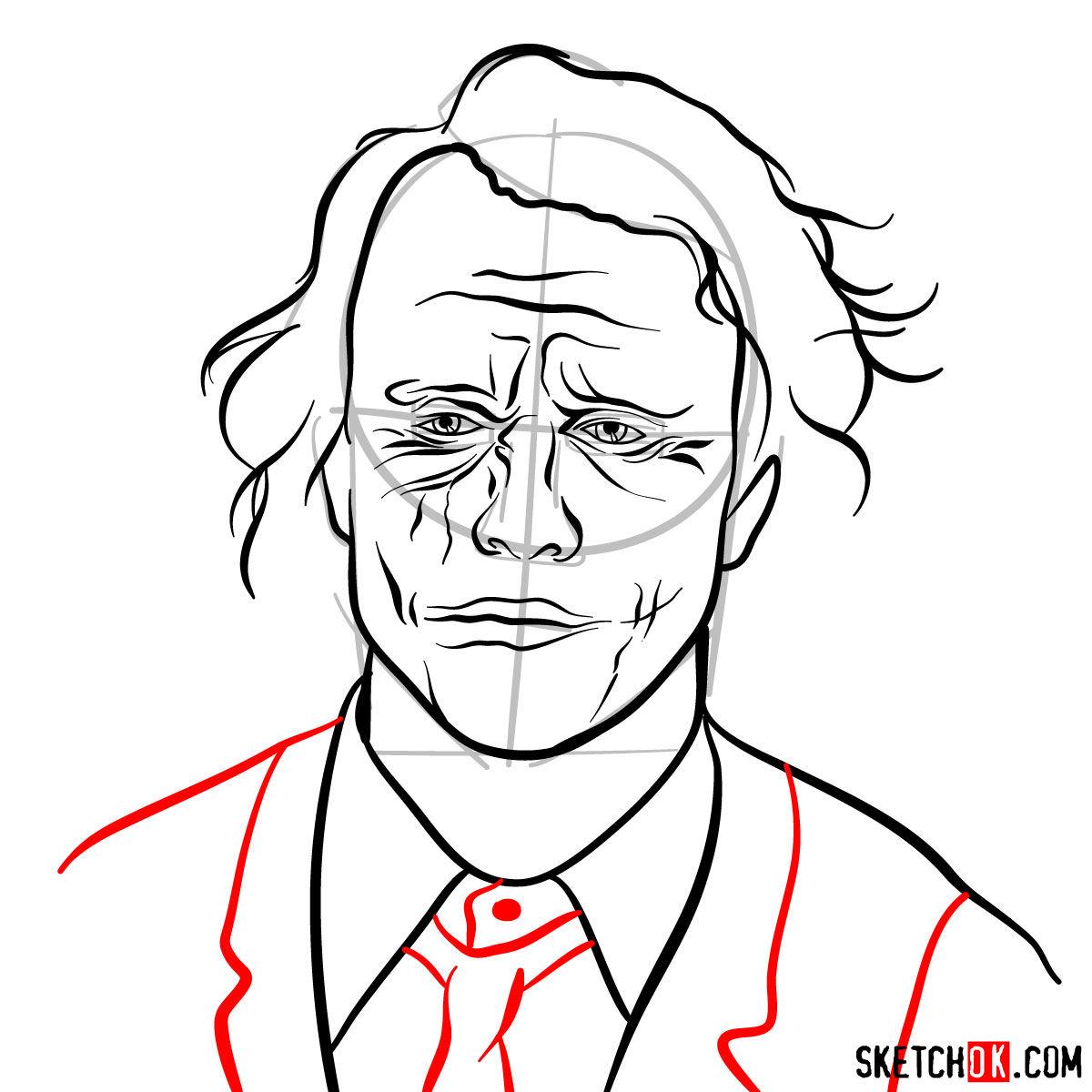 How to  Heath Ledger's Joker - step 12