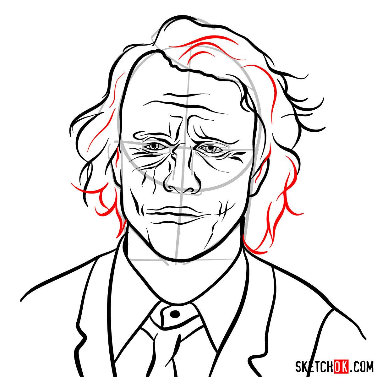 How to  Heath Ledger's Joker - step 13
