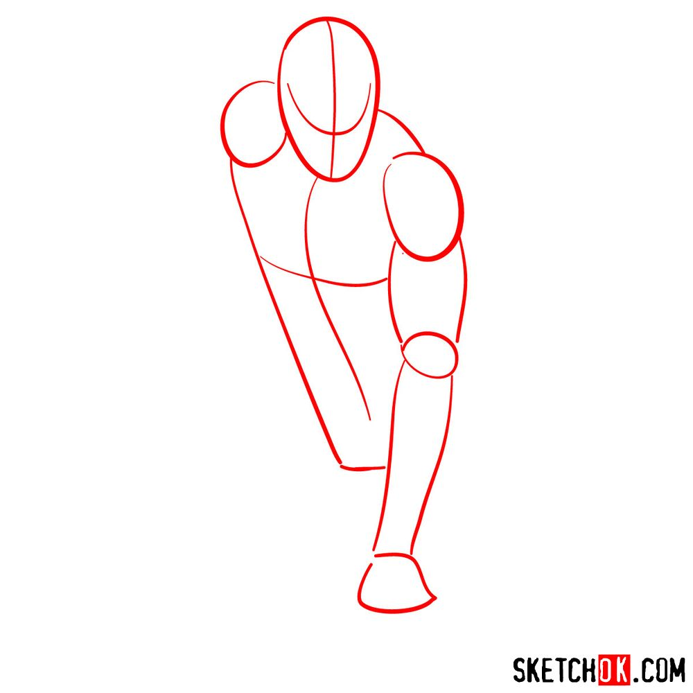 How to draw Spider-Man (Comic style) - step 01