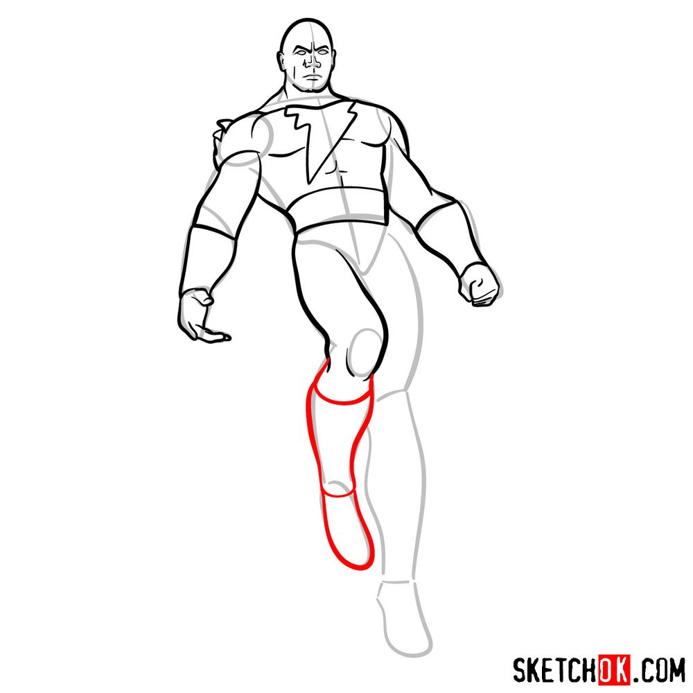 How to draw Black Adam - step 11