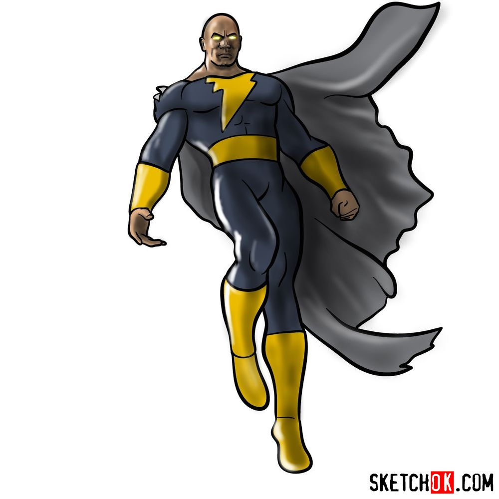 How to draw Black Adam