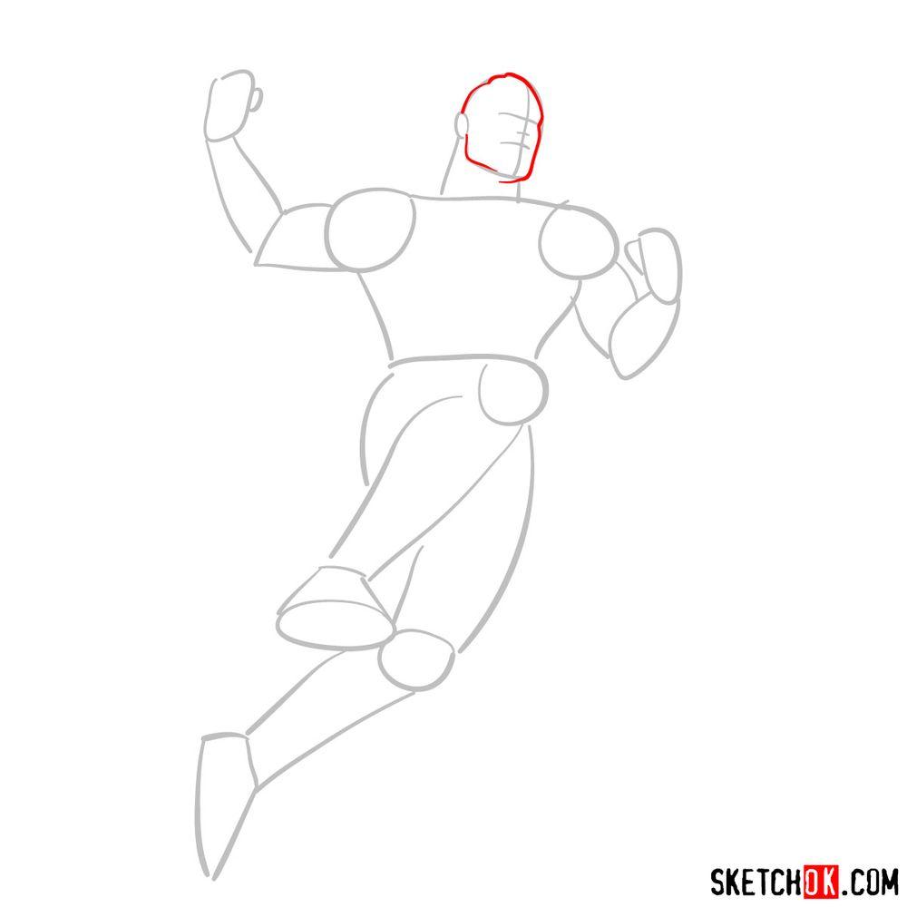 How to draw Shazam - step 03