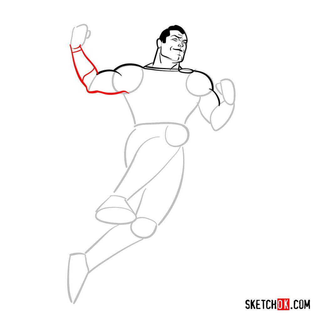 How to draw Shazam - step 08