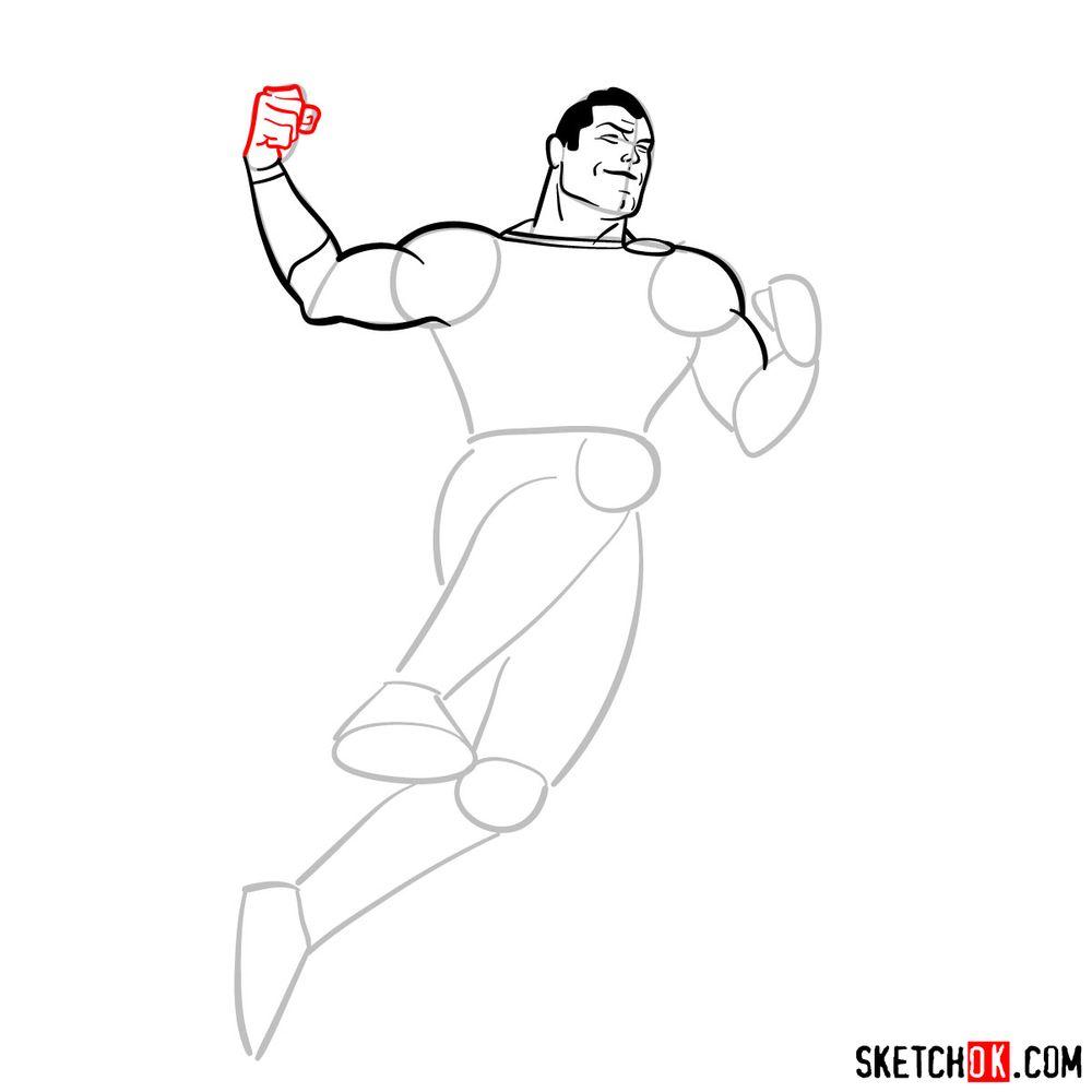 How to draw Shazam - step 09