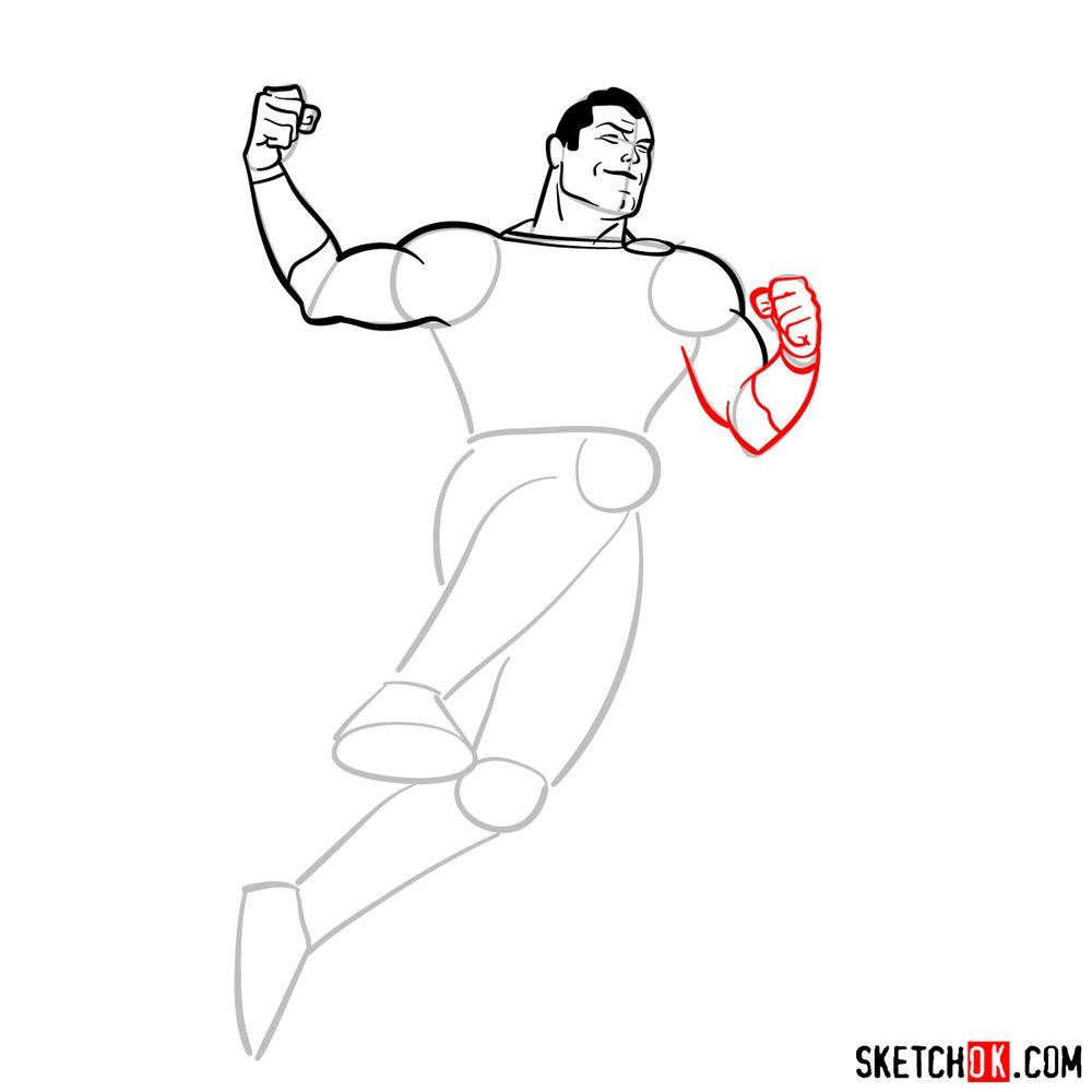 How to draw Shazam - step 10