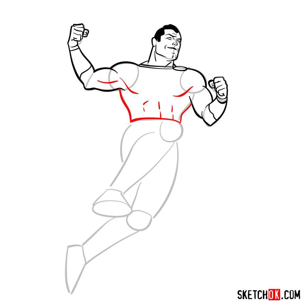 How to draw Shazam - step 11
