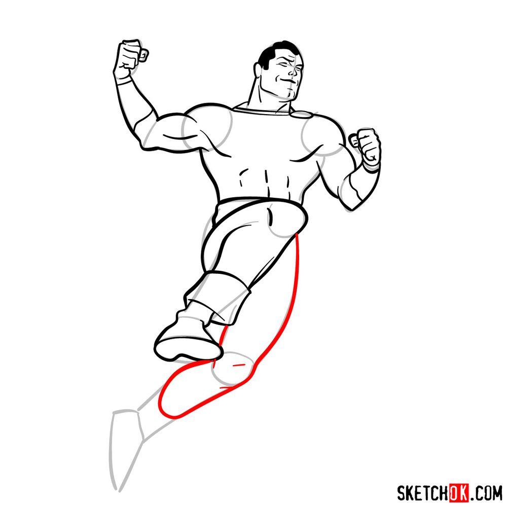 How to draw Shazam - step 14