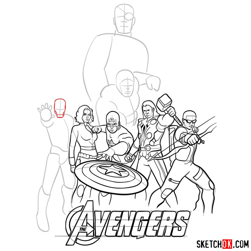 How to draw The Avengers (new) - step 26