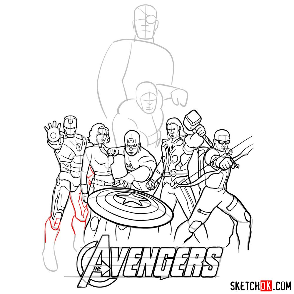 How to draw The Avengers (new) - step 31