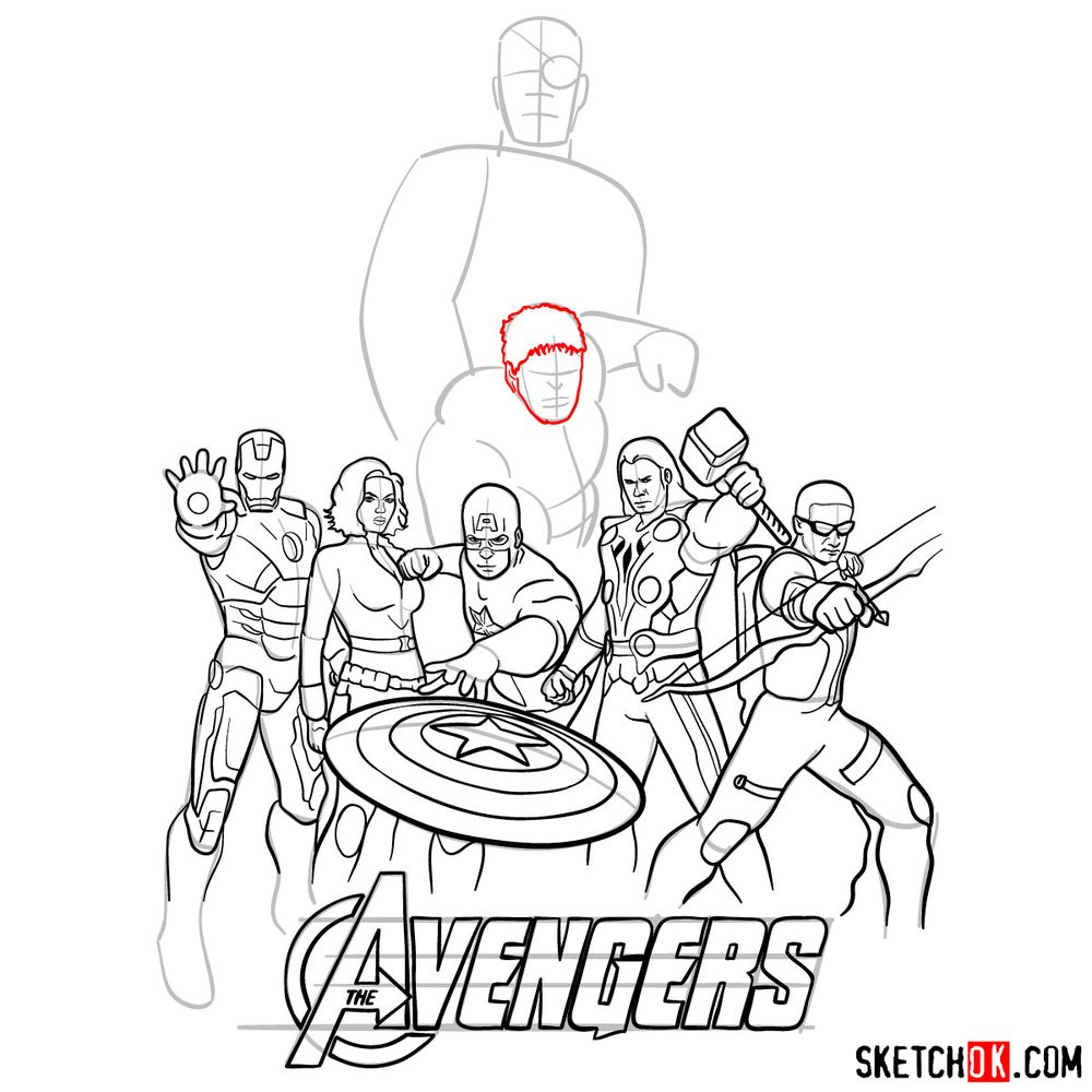 How to draw The Avengers (new) - step 32