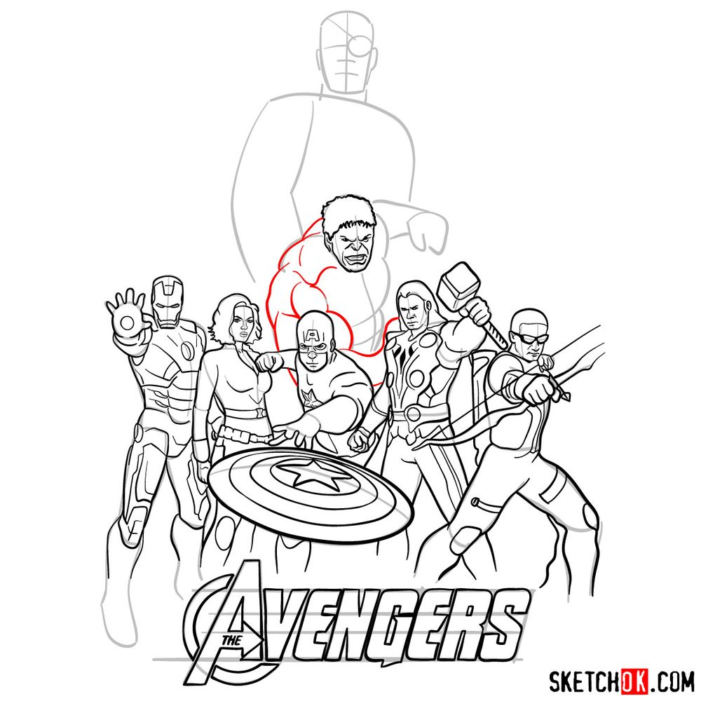 How to draw The Avengers (new) - step 34