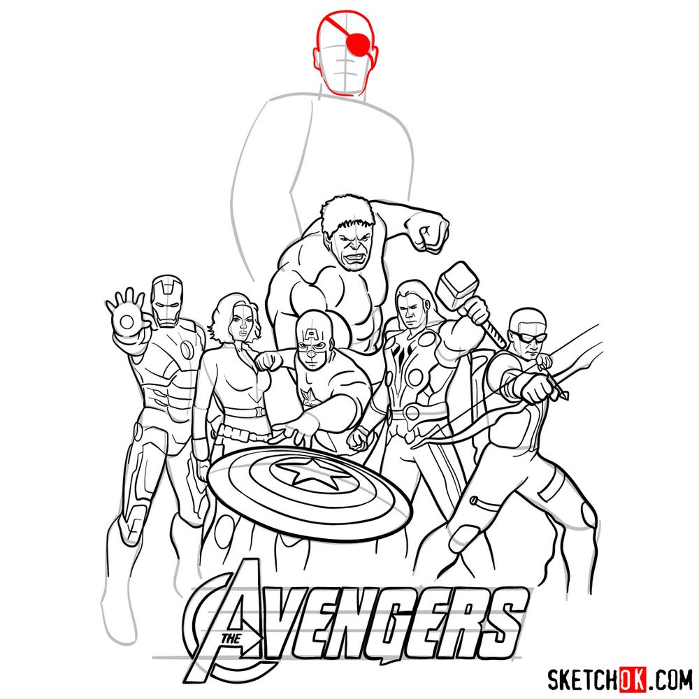 How to draw The Avengers (new) - step 37