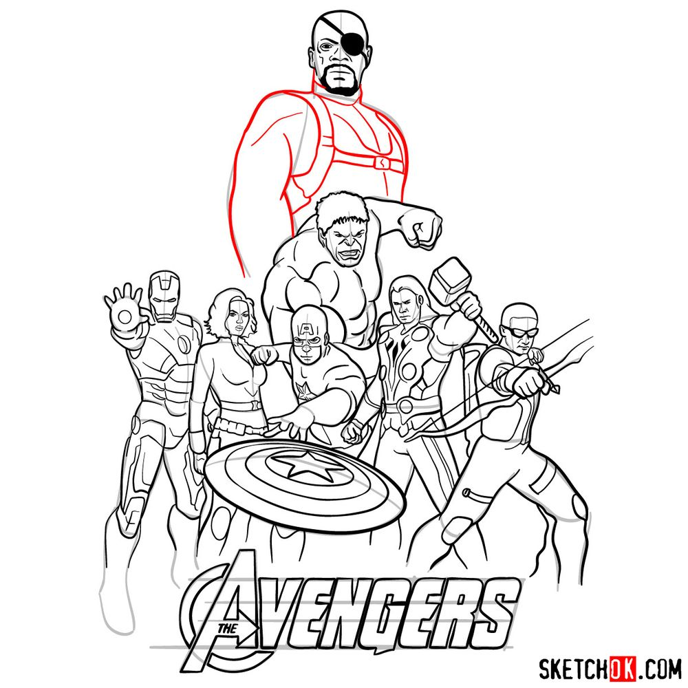 How to draw The Avengers (new) - step 39