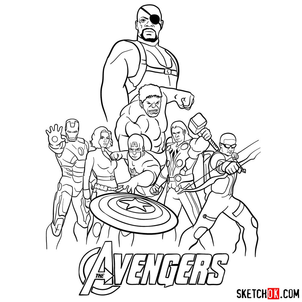 How to draw The Avengers (new) - step 40