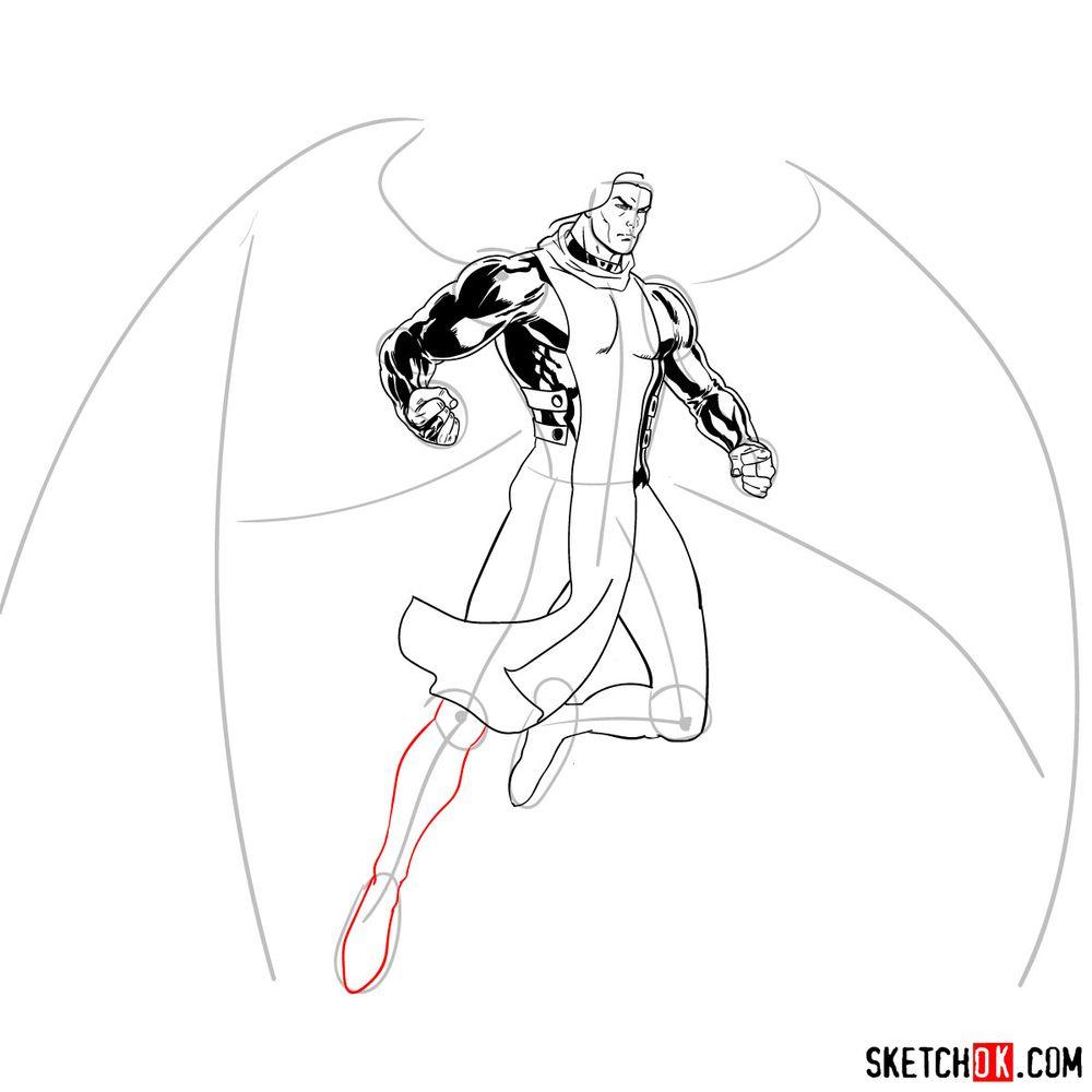 How to draw Archangel | Marvel - step 17