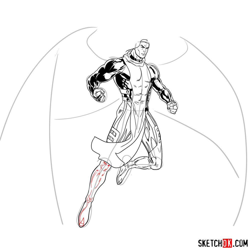How to draw Archangel | Marvel - step 22