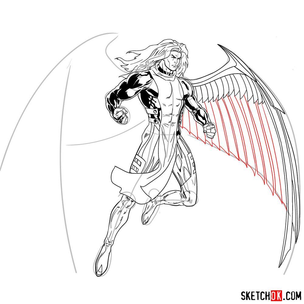 How to draw Archangel | Marvel - step 26