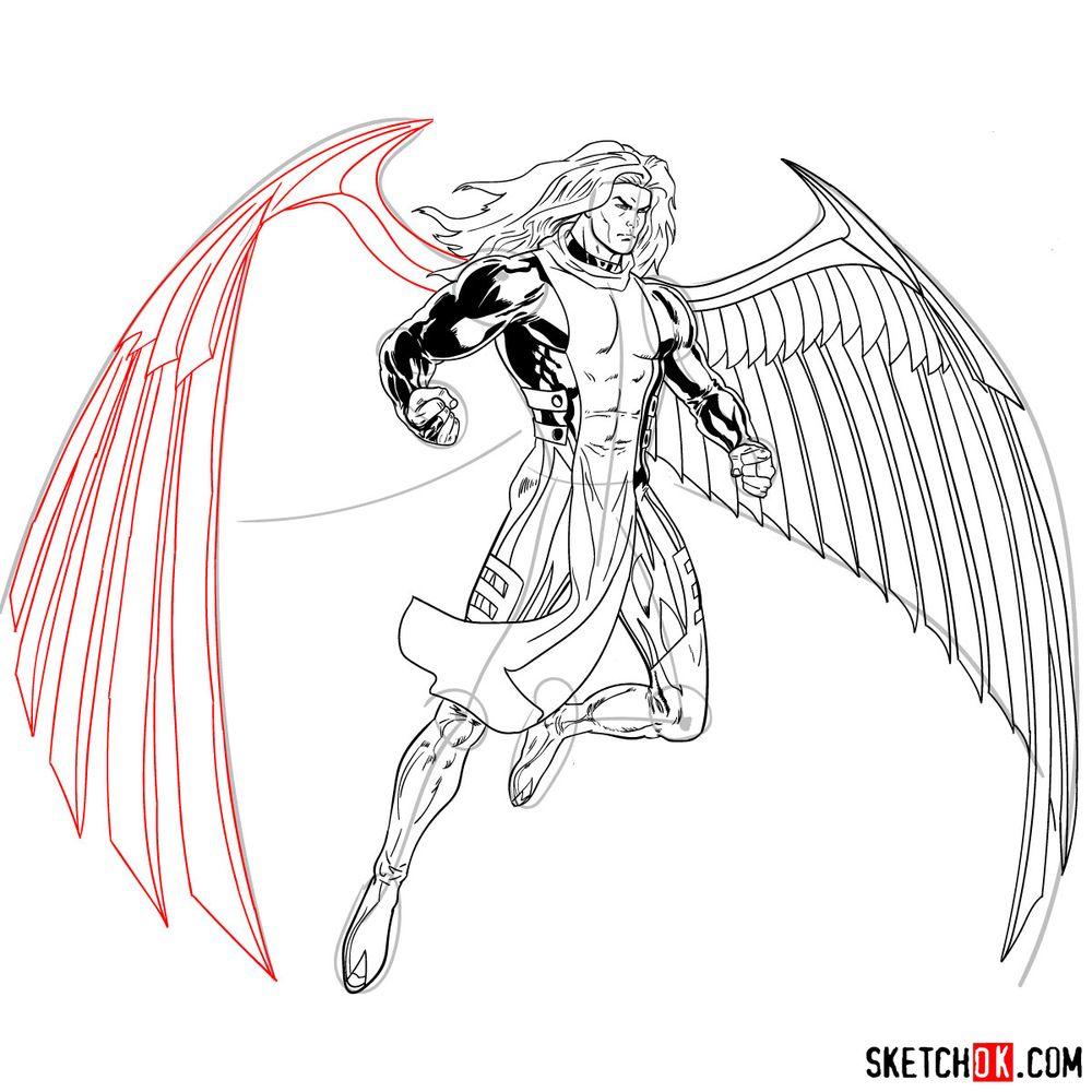 How to draw Archangel | Marvel - step 27