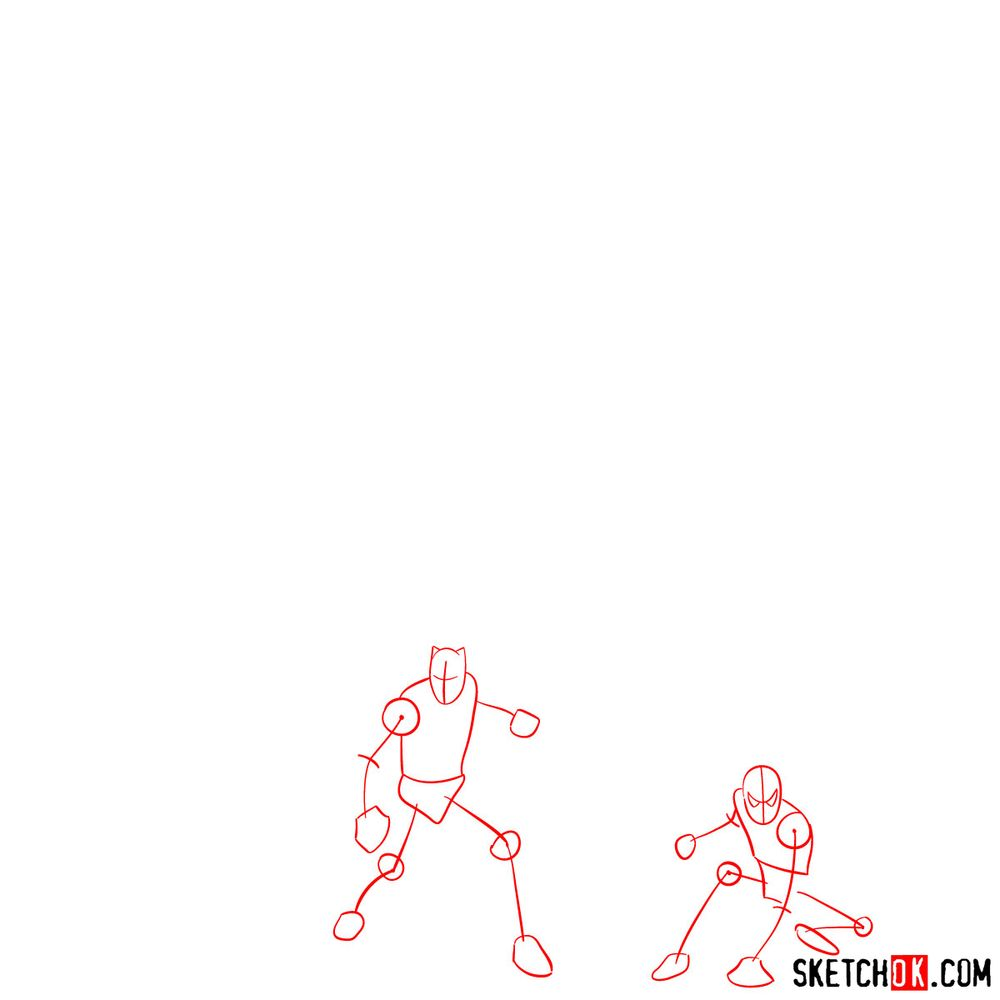 How to draw the Avengers (Infinity War) - step 01