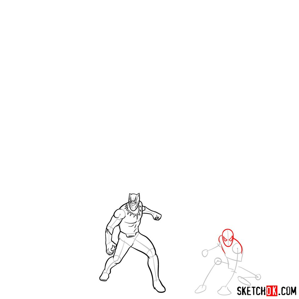 How to draw the Avengers (Infinity War) - step 09