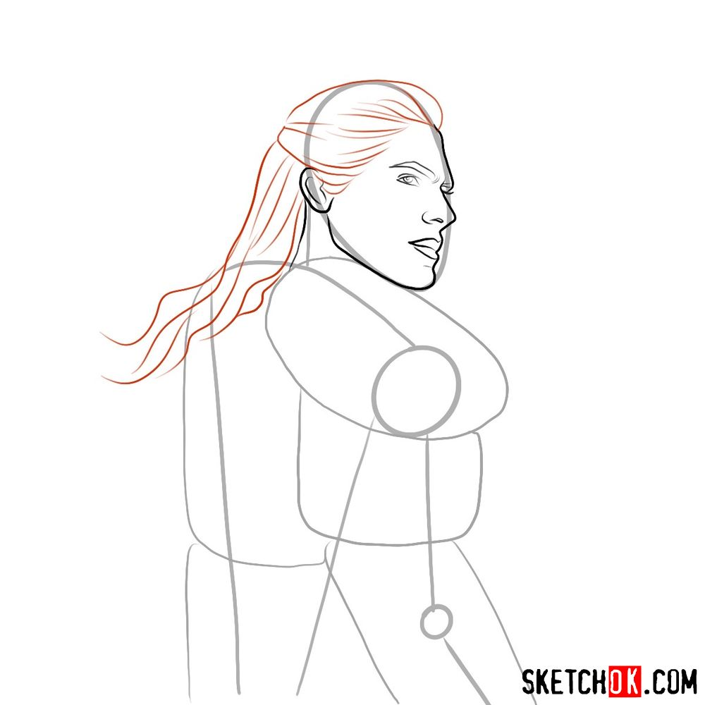 How to draw Geralt from Netflix series - step 05