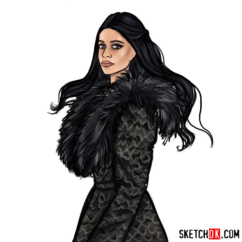 How to draw Yennefer of Vengerberg from Netflix series