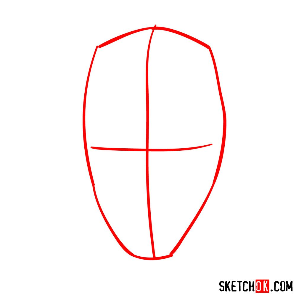 How to draw Darth Maul's face | Star Wars - step 01