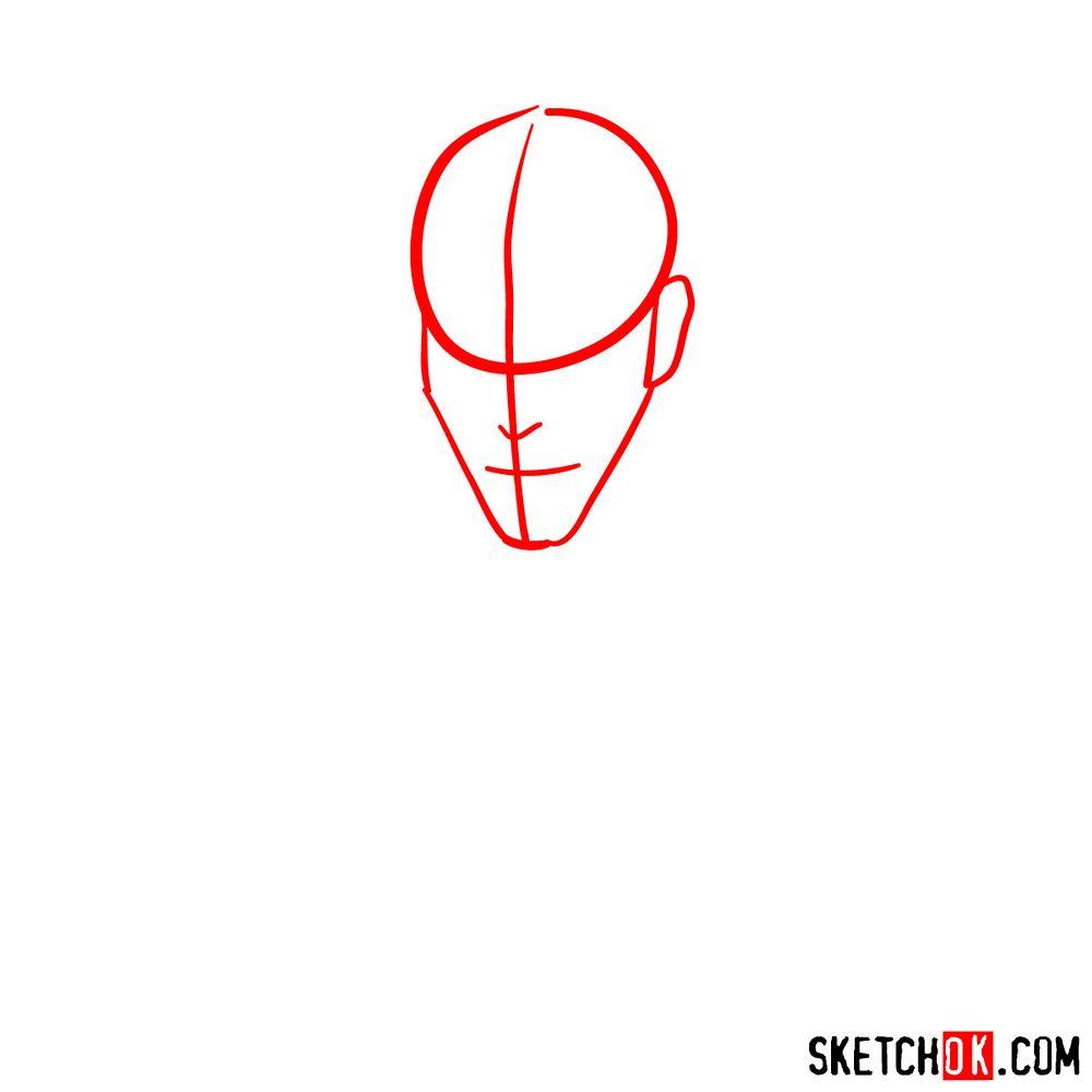 How to draw Darth Maul - step 01