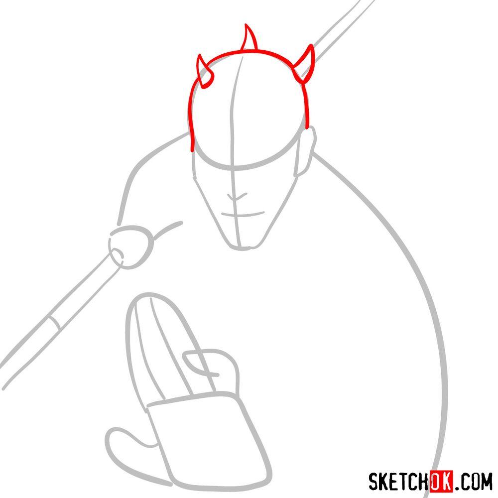 How to draw Darth Maul - step 03