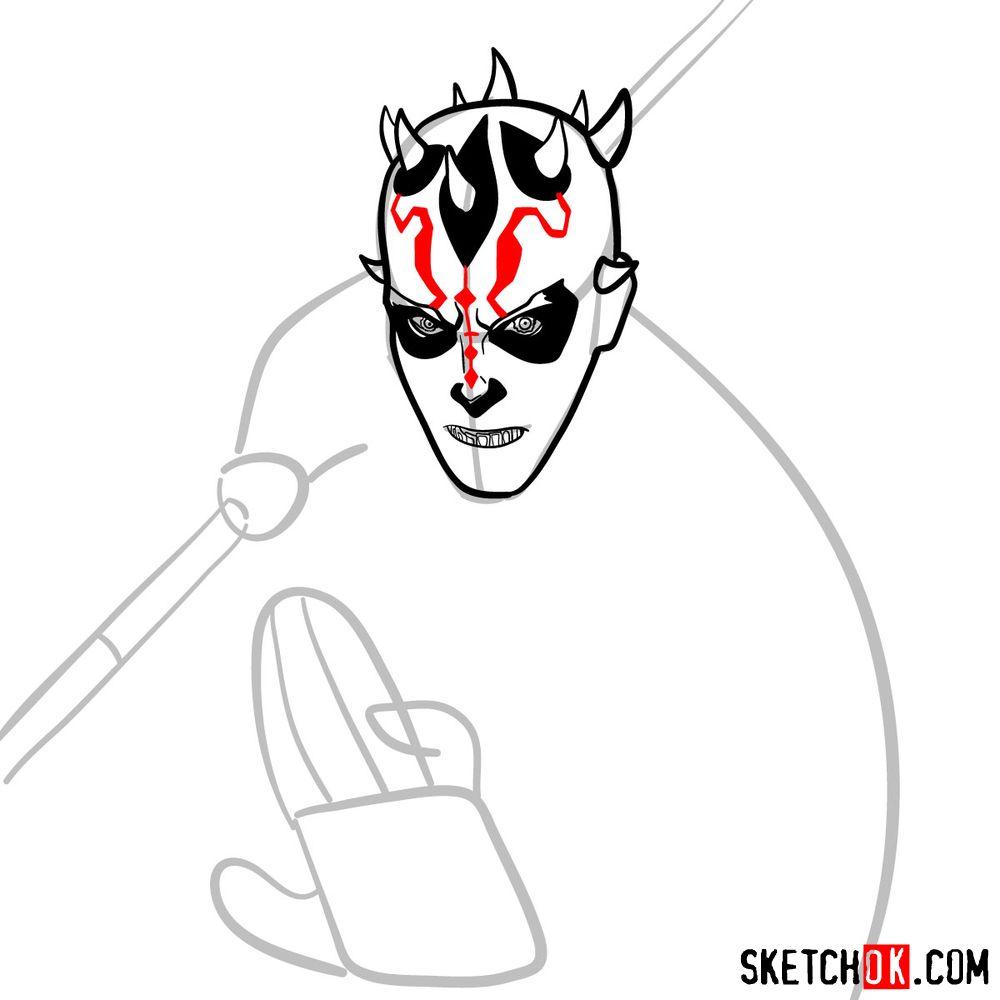 How to draw Darth Maul - step 08