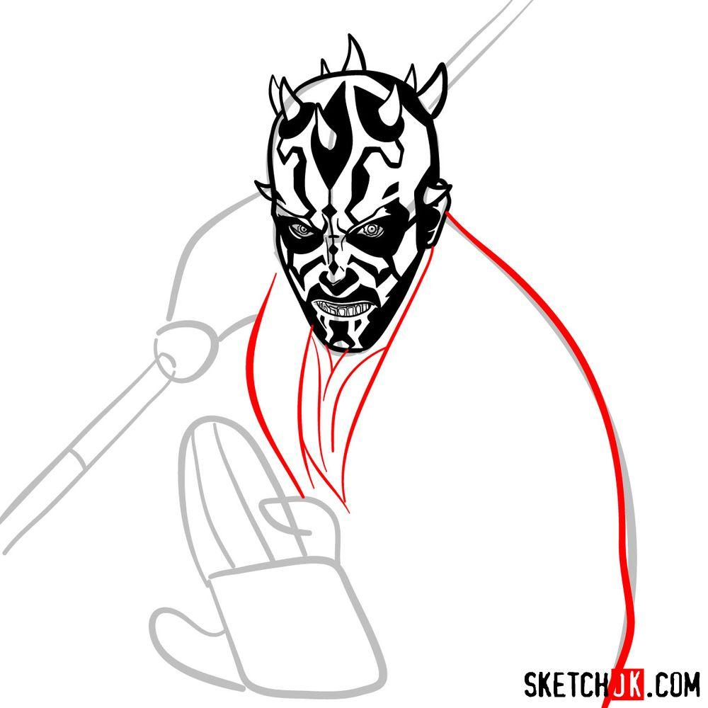 How to draw Darth Maul - step 11