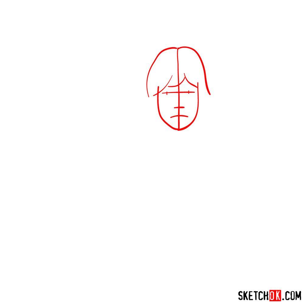 How to draw Luke Skywalker - step 01