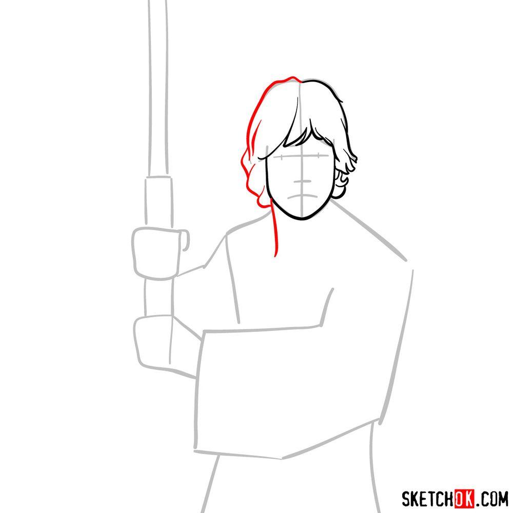 How to draw Luke Skywalker - step 05