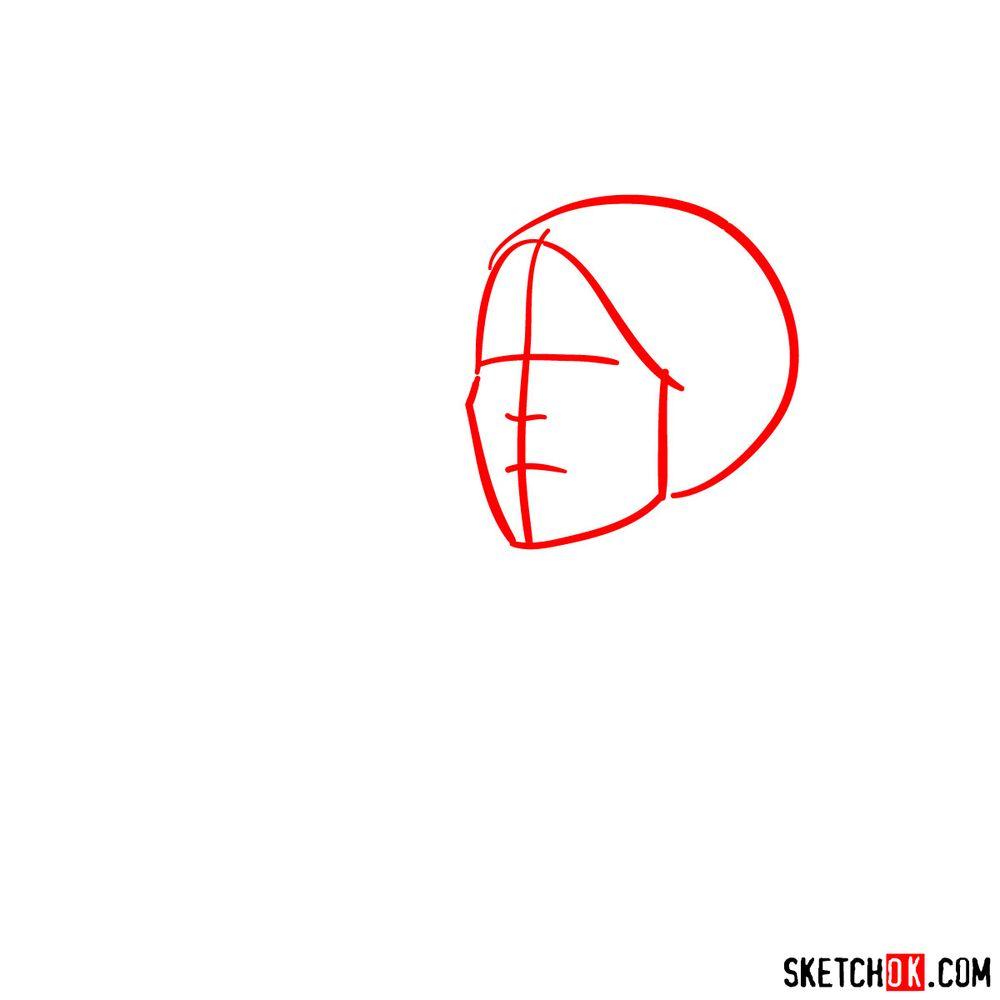 How to draw Princess Leia - step 01