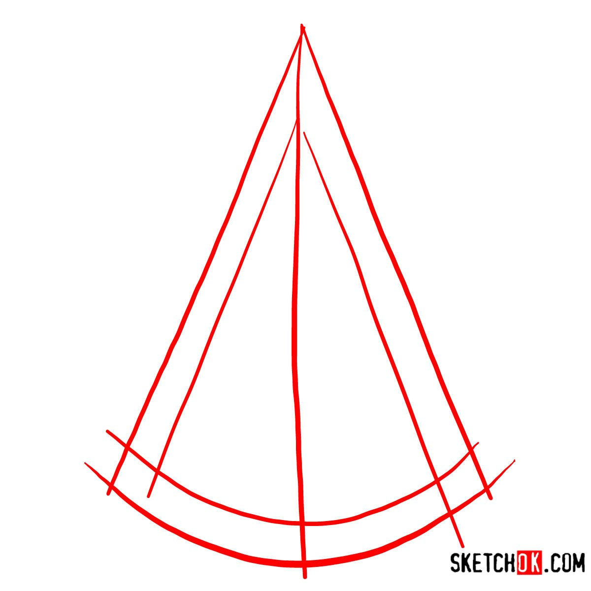 How to draw the Logo of Assassins | Assassin's Creed - step 01