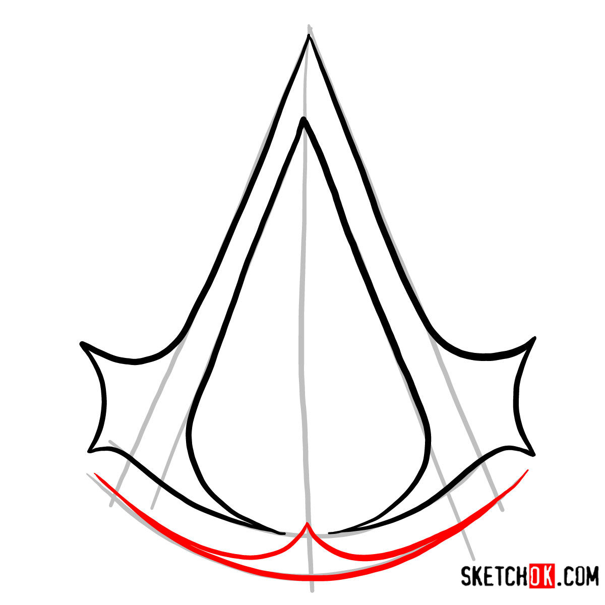 How To Draw The Logo Of Assassins Assassin S Creed Step By