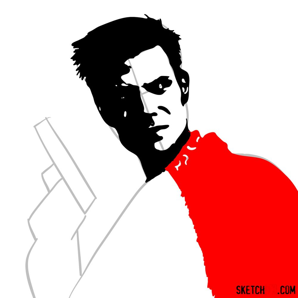 How to draw Max Payne - step 09