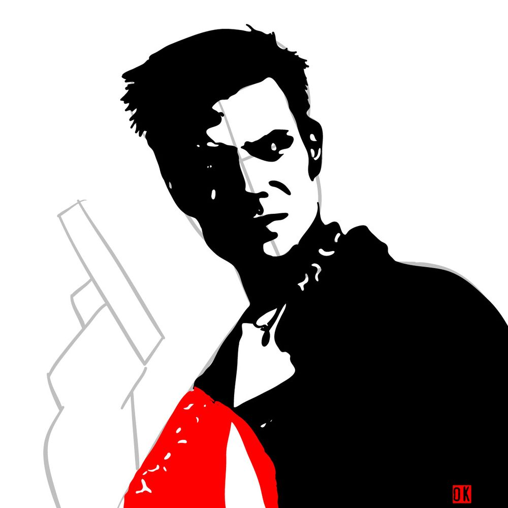 How to draw Max Payne - step 11