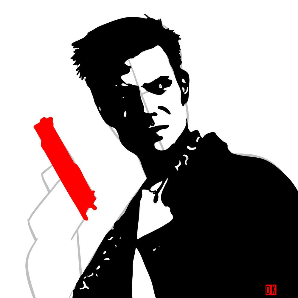 How to draw Max Payne - step 12